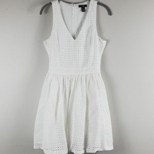 GAP Eyelet Fit & Flare Dress